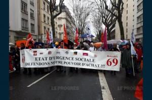 Manifestation retraités Lyon 15 mars 2018